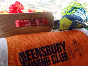 Queensbury RC runner wins 1st in age category at the Ford Island Bridge 10K at Pearl Harbor, Hawaii